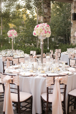Gold and White Outdoor Reception