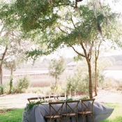 Green and Gray Wedding Decor