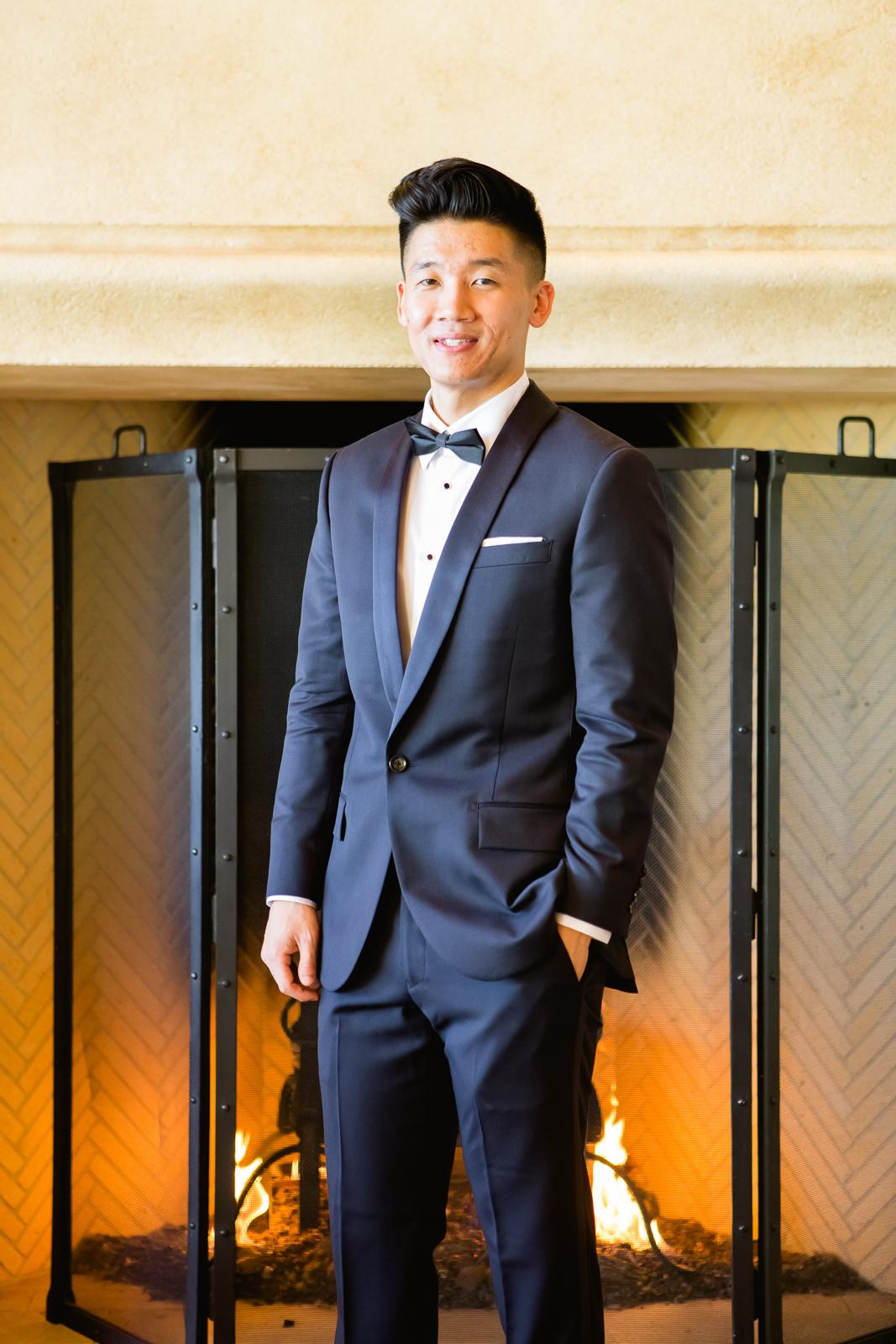 Groom in Navy Suit - Elizabeth Anne Designs: The Wedding Blog