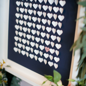 Guest Book of Paper Hearts