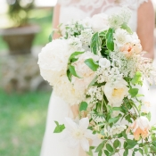 Ivory and Pale Peach Bouquet