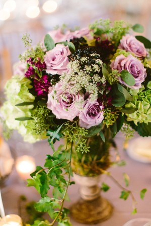 Lavender and Green Wedding Flowers