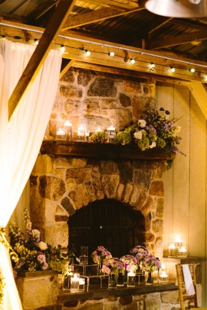 Mantel with Flowers and Candles