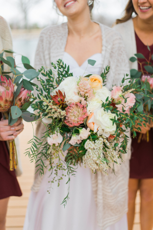 Mauve and Green Bouquet