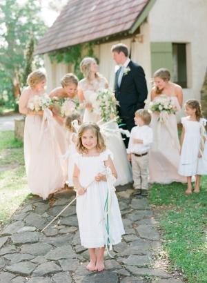 Neutral Color Bridal Party