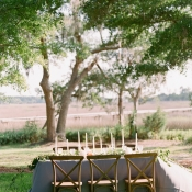 Outdoor Wedding Table in Gray
