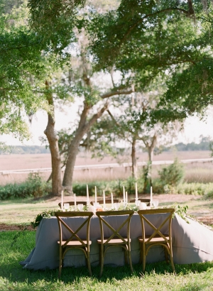 Outdoor Wedding Table in Gray