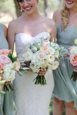 Pale Mint Bridesmaids Dresses