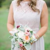 Pale Silver Bridesmaids Dress