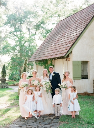 Pale Yellow Wedding Party