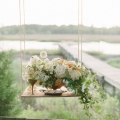 Peach and Ivory Wedding Flowers