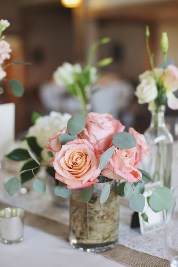Pink rose centerpiece elizabeth anne designs the