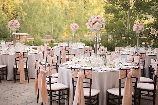pink and white wedding reception ideas - Wedding Decor Ideas