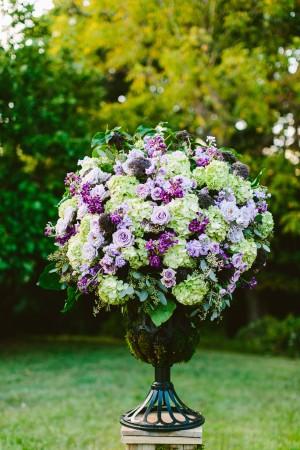 Purple Ceremony Flowers