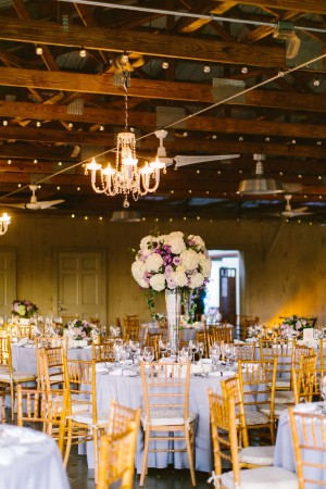 Reception in Ivory and Purple
