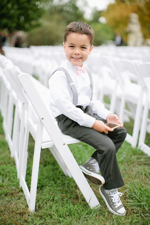Ring Bearer in Suspenders