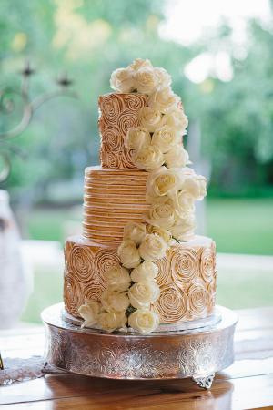 Rose Gold Meringue Cake