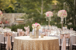 Sequin Gold Tablecloth