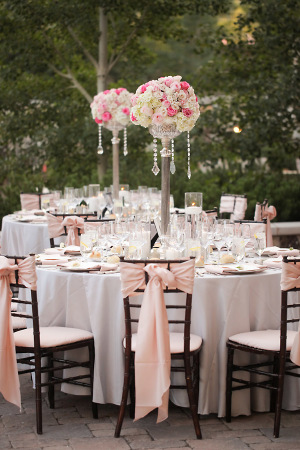 Wedding with Pink Chair Decor