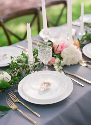 White and Gray Wedding China