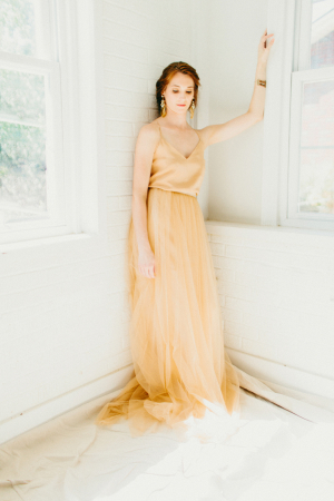 Apricot Bridal Gown