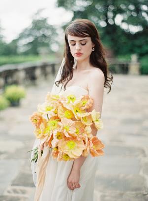 Apricot Poppy Bouquet