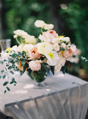 Apricot and Butter Wedding Flowers