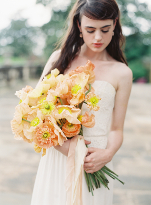 Bouquet of Apricot Poppies