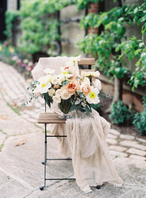 Bouquet of Yellow and Apricot Flowers