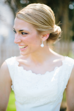 Bride in Chic Updo