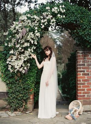 Bride in English Garden 2