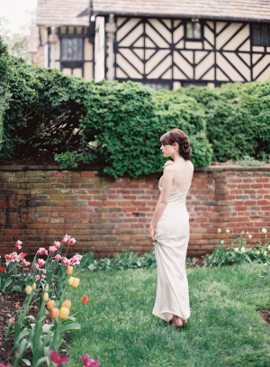 Bride in English Garden