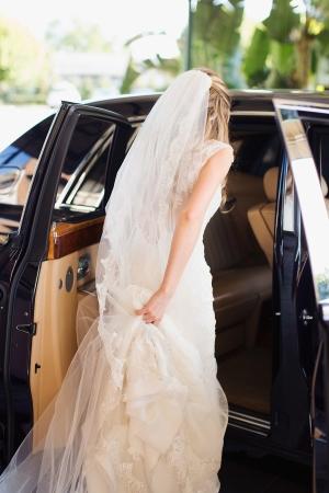 Bride with Antique Car