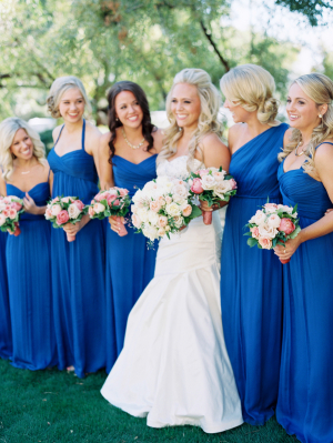 Bridesmaids in Cobalt
