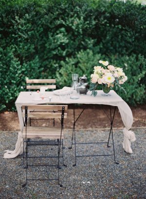 Cafe Table for Wedding