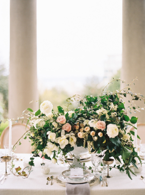 Centerpiece in Ivory and Blush