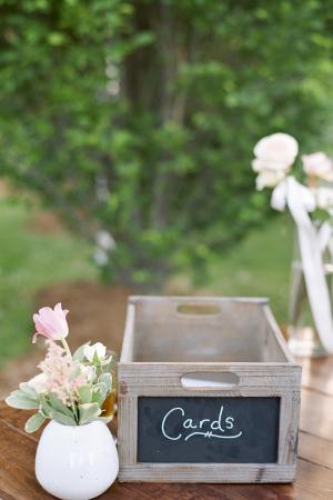 Chalkboard Box for Wedding Cards