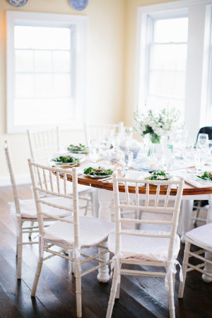Classic Green and Blue Wedding Reception