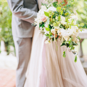 Elegant Green and Ivory Bouquet