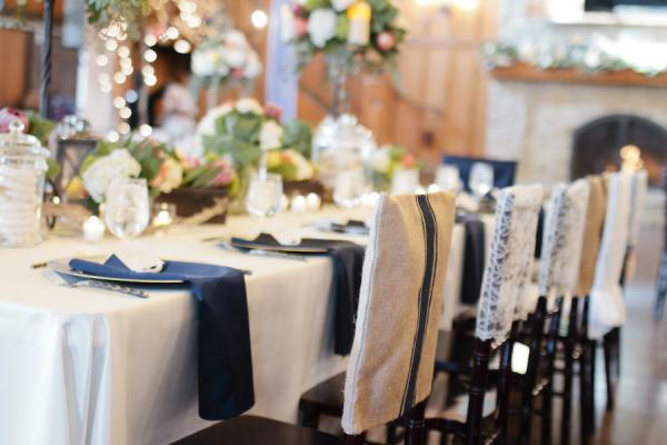 Classic nautical inspired wedding elizabeth anne designs for A valeria boss salon