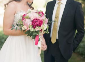 Fuchsia and Blush Bouquet