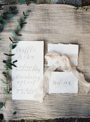 Gray Calligraphy Escort Cards