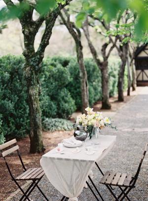 Gray and Yellow Wedding Table