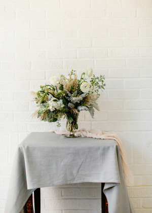 Green and Gray Wedding Flowers