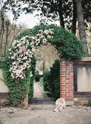 Greenery at English Tudor Home