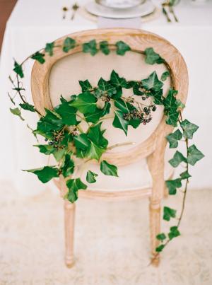 Ivy on Wedding Chair