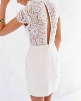 Keepsake Run The World Lace Top Shift Dress