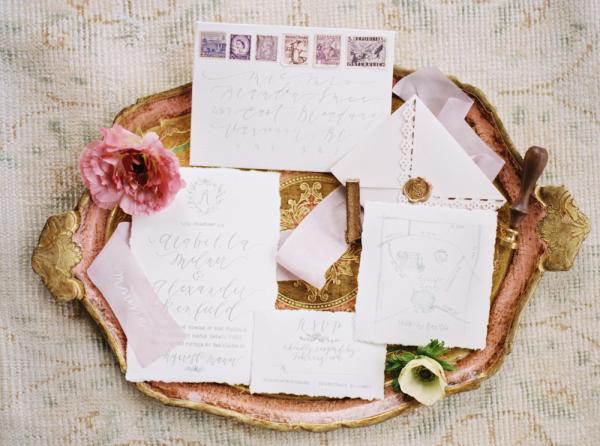 Lavender and Gray Wedding Invitations