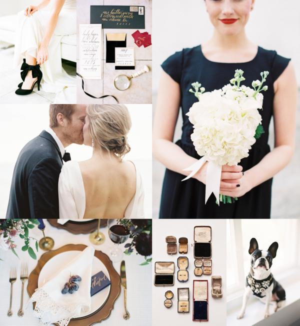 Modern Elegant Black and White Wedding