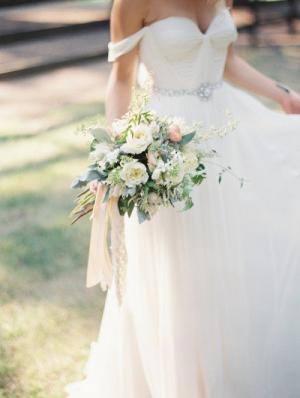 Natalie Silk Hand Gathered Bustier Gown